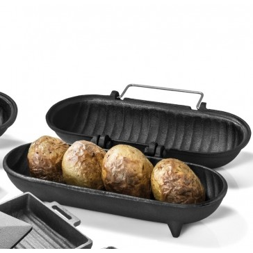 Cast Iron Potato Cooker Large