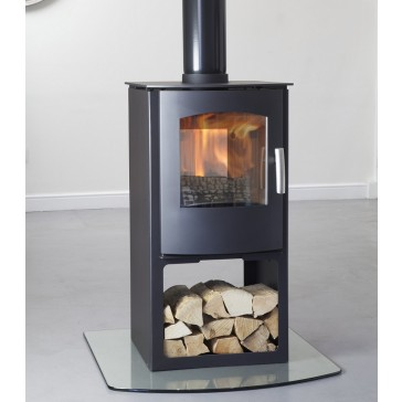 Mendip Churchill 8 Double sided with Logstore Stove