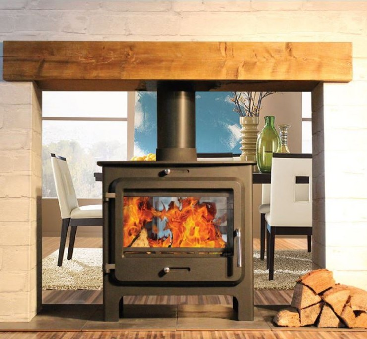 Double Sided wood burning and multifuel stoves. Authorised Retailer UK of Double sided stoves from Hunter