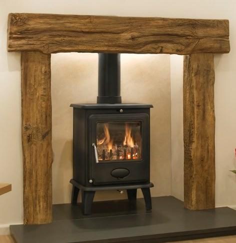 Exmoor Oak Effect Concrete Surround Newman Fireplace