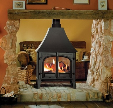 Stovax Stockton 11 Double Sided Wood Burning Stove With Canopy