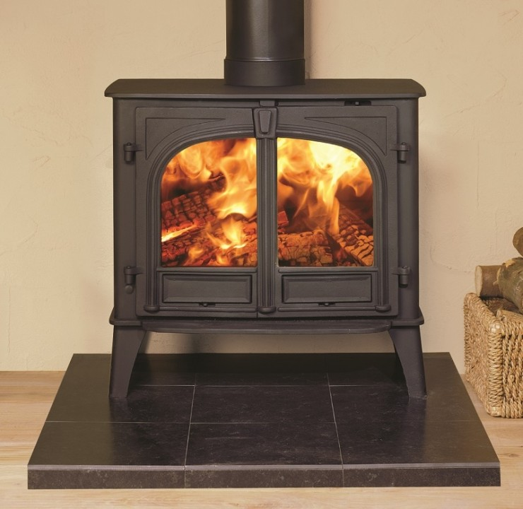 Stovax Stockton 11 Wood Burner With Double Doors And Flat Top