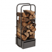 Dixneuf Click Firewood Storage in Grey