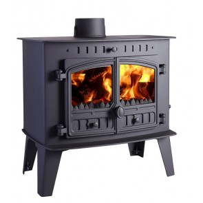 Hunter High Output Inglenook Stove 2 dr MF