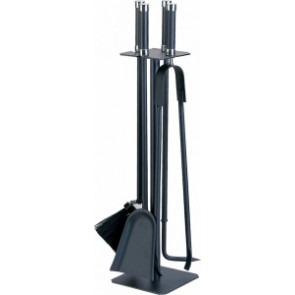Ebony Contemporary Fire Tool Set by Euroheat
