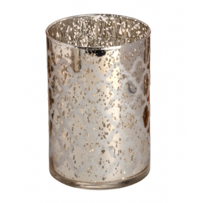 speckled gold / siolver glass Arabasque Tealight holder