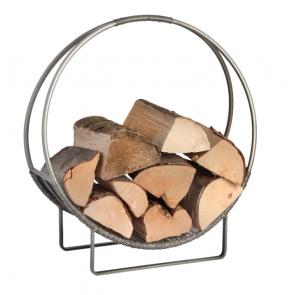 Antique Pewter Circular Log Holder