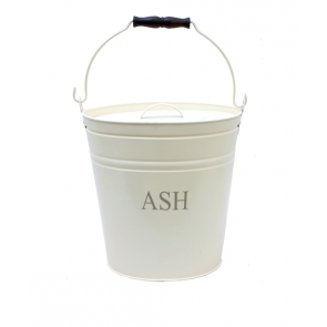 Ivory Printed Ash Bucket with Lid