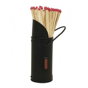 All Black Match Holder with Matches