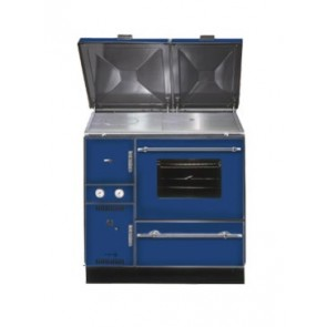 Wamsler 900 shown with optional hob lids in Blue