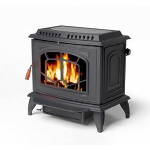 Stanley Ashling Stove with boiler in matt black