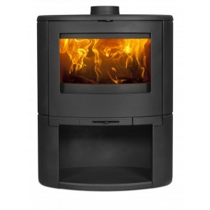 Dovre Bow Stove on Wood box