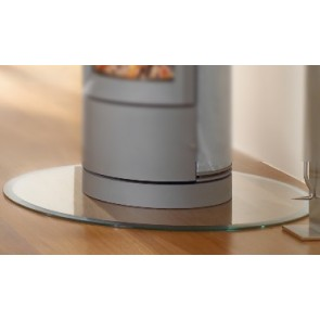 Circle Glass Hearth / Glass Floor Plate for Wood-burning Stove