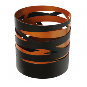 Dixneuf Ruban Log Holder in Black & Copper