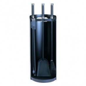 Black Curved Stand with Solid Back Companion Set