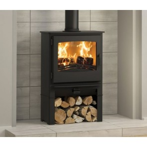 Evolution Desire 5 Widescreen Multi-Fuel Stove On Logstore