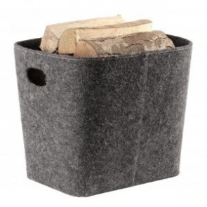 Grey Felt Log Holder
