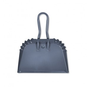 Small Charcoal Powder Coated Steel Dustpan