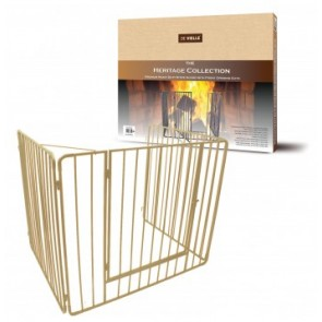 Cream Heritage Stove Guard With Gate