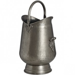 Antique Pewter Coal / Log Bucket