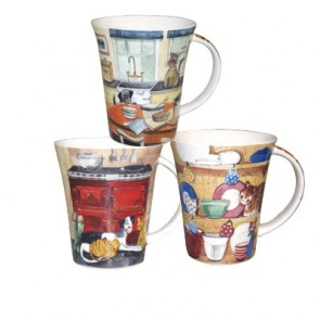 Set of 6 Alex Clark - Kitchen Scenes Mugs