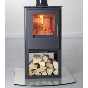 Mendip Loxton 8 Double Sided with Logstore Stove
