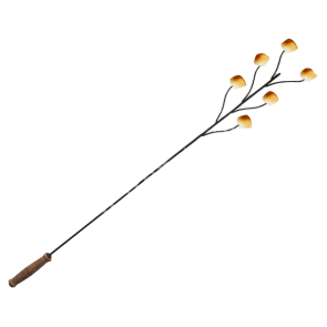 Long marshmallow fork with wooden handle (1100mm in length)