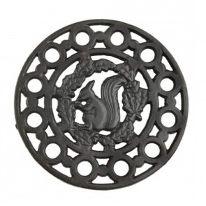 Morso Squirrel Motif cast Iron Trivet