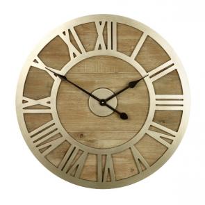 Albus Wood & Metal Wall Clock