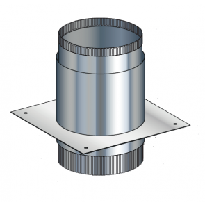 Poujoulat Push-Fit Adaptor c/w closure plate