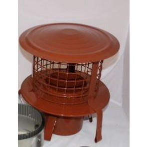 Poujoulat Push-Fit Pot Hanger with Cap and Mesh Terracotta