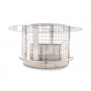 Poujoulat Stainless Steel Rain Cap and Bird Guard