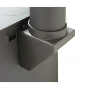 Charnwood vertical rear flue adaptor