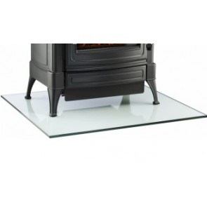 Rectangular Glass Hearth for Wood-burning Stove