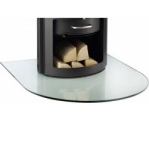 Semi Circular Glass Hearth / Glass Floor Plate for Wood-burning Stove