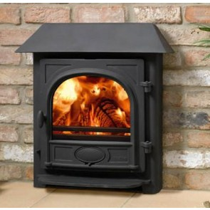 Stovax Stockton 7 inset stove with low canopy