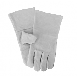 Grey heat resistant stove gloves
