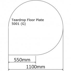 Slate Effect Tear Drop Floor Plate
