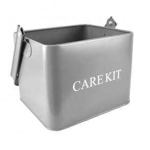 Grey Care Kit Box - ideal for storing stove & fireplace cleaners