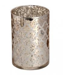 speckled gold / siolver glass Arabasque Tealight holder