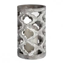 Large Stone Effect Patterned Candle Holder