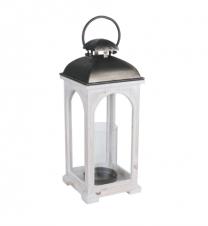 Large white wooden lantern