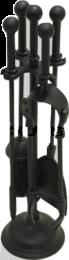 All Black Companion Set - Modern Ball Top