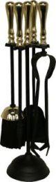Calfire Black & Brass Traditional Top Round Base Companion Set small