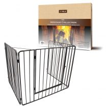 Black Heritage Stove guard With Gate
