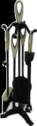 Black & Satin Nickel Loop Top Companion Set