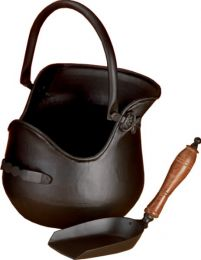 All Black Plealey Coal Bucket & Shovel