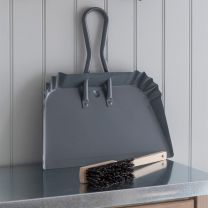 Large Charcoal Powder Coated Steel Dustpan