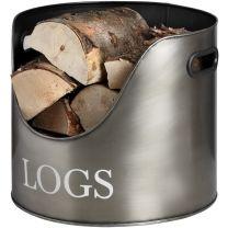 Antique Pewter Log Storage
