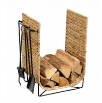 Dixneuf Corail log holder with fire tools